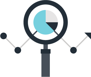 roseville SEO magnifying glass graphic