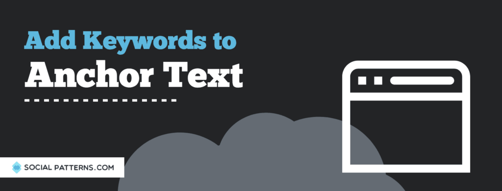 add keyword anchor text
