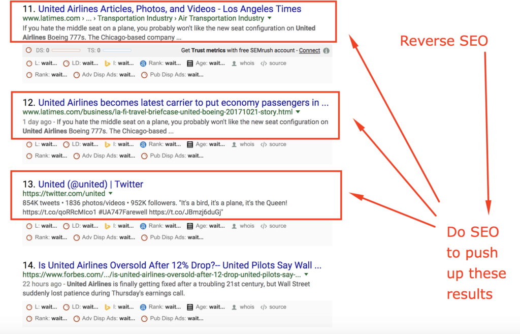 real world reverse seo example