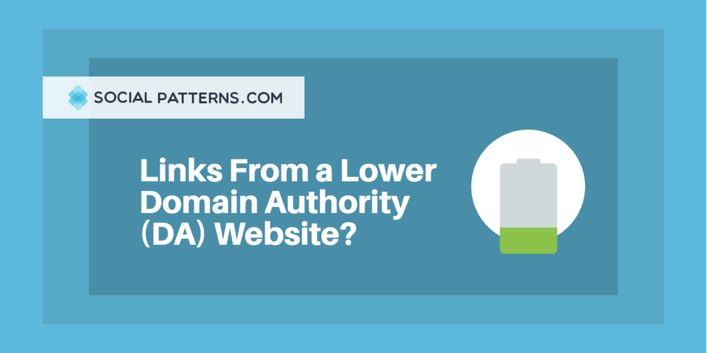 backlinks from lower da