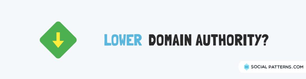 lower domain authority links