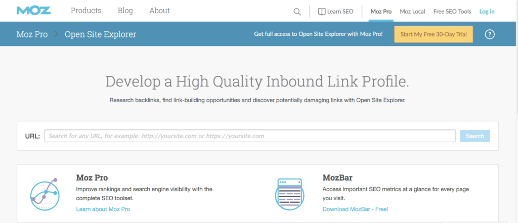 moz open site explorer