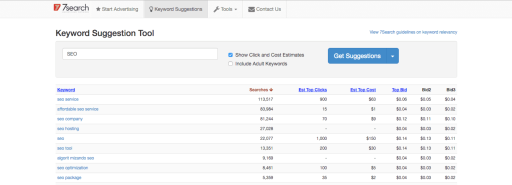 7search ppc keyword tool