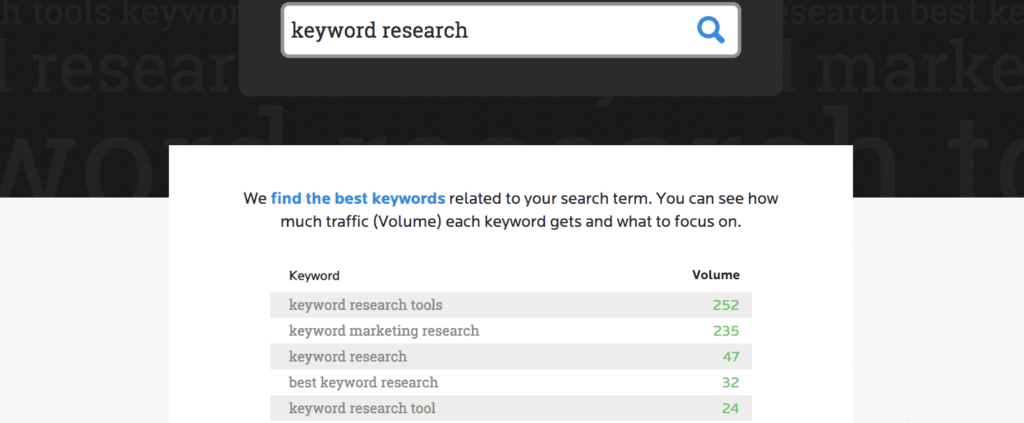 Wordtracker keyword research tool